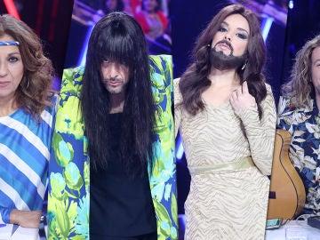 Manel Navarro, Remedios Amaya, Conchita Wurst y Loreen se apoderan del jurado de 'Tu cara me suena'