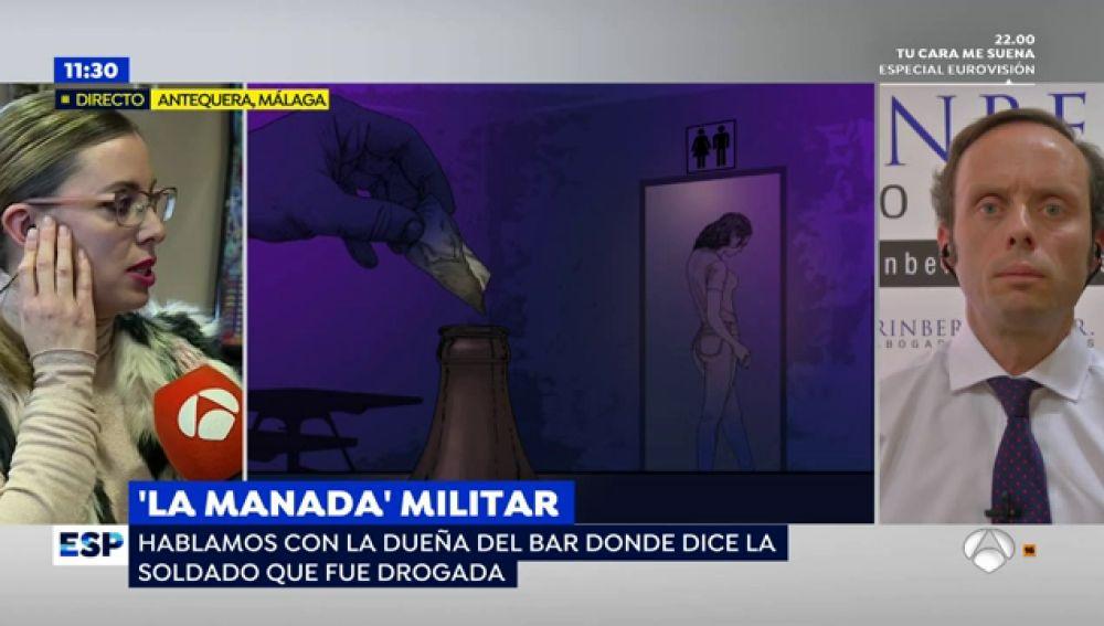 la dueña del bar donde la soldado fue supuestamente drogada