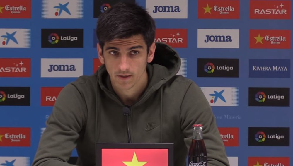 Gerard Moreno, en rueda de prensa