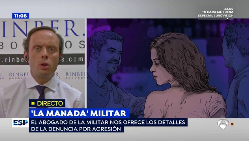 """El abogado de la soldado que denunció la 'Manada' militar: """"Ella está de baja y los compañeros implicados siguen con una vida normal"""""""