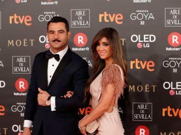 Antonio Velázquez y Marta González, la primera pareja en pisar la alfombra