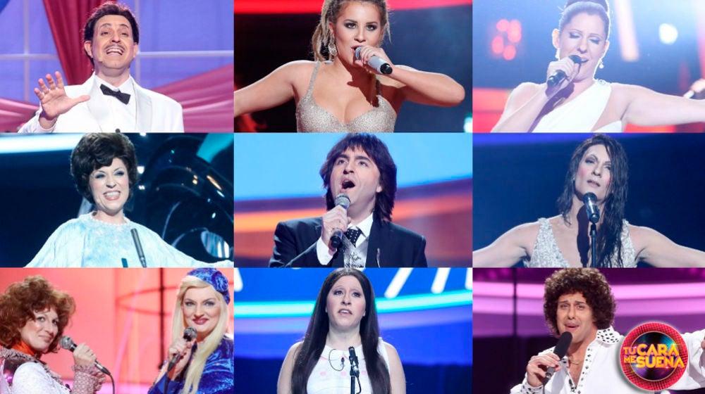 Ranking de la gala 'Especial Eurovisión' de la sexta edición de 'Tu cara me suena'
