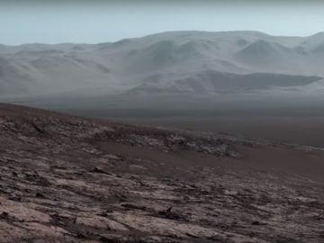 Imagen panorámica de Marte