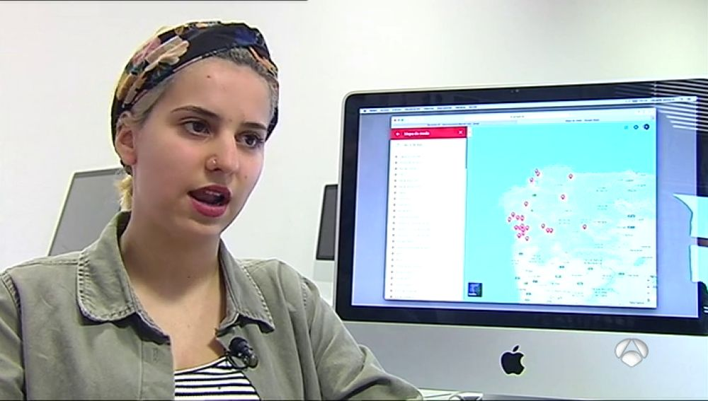 Una joven gallega diseña el 'mapa del miedo' para mostrar los lugares en los que se han producido agresiones sexuales
