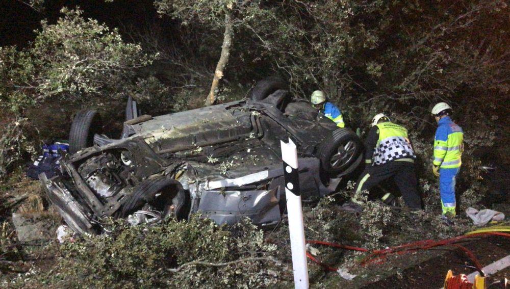 Así ha quedado el coche tras el accidente