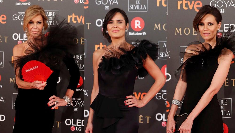 Bibiana Fernández, Elena Ballesteros y Elena Sánchez