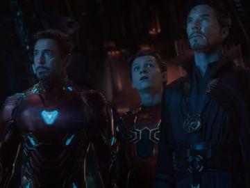 Iron Man, SpiderMan y Dr. Extraño en 'Vengadores: Infinity War'