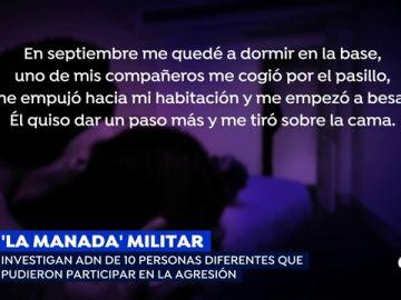 """La primera presunta agresión sexual que denunció la víctima de la 'Manada' militar: """"Le digo que tengo el periodo, pero se baja los pantalones e intenta penetrarme de forma anal"""""""