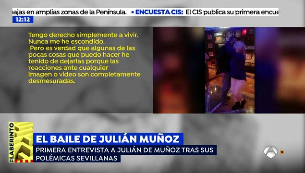 """La primera entrevista a Julián Muñoz tras su polémico baile: """"Mi pronóstico de vida es corto, mis enfermedades incurables"""""""