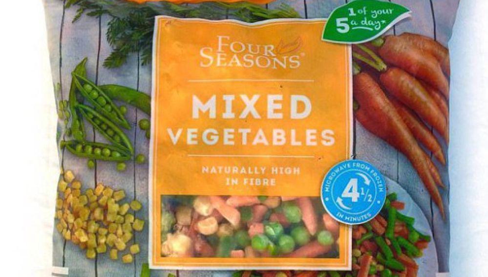 Mix de verduras congeladas retiradas por Aldi