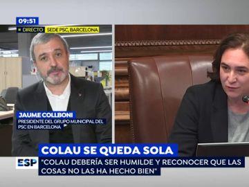 """Jaume Collboni, sobre Ada Colau: """"Debería ser humilde y reconocer que las cosas no las ha hecho bien"""""""