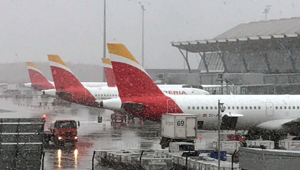 Fotografía facilitada por Iberia del aeropuerto Adolfo Suárez Madrid-Barajas
