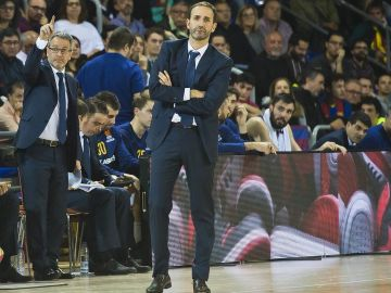 Sito Alonso, durante un partido del Barcelona