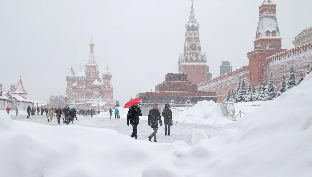 La 'nevada del siglo' en Moscú