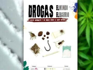 Folleto polémico sobre el consumo de drogas