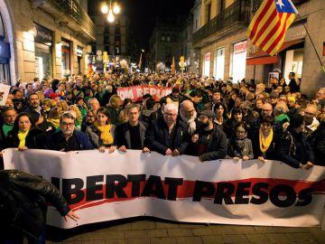 Manifestación por los 'Jordis'