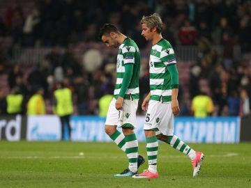 Fabio Coentrao, en un partido con el Sporting de Portugal