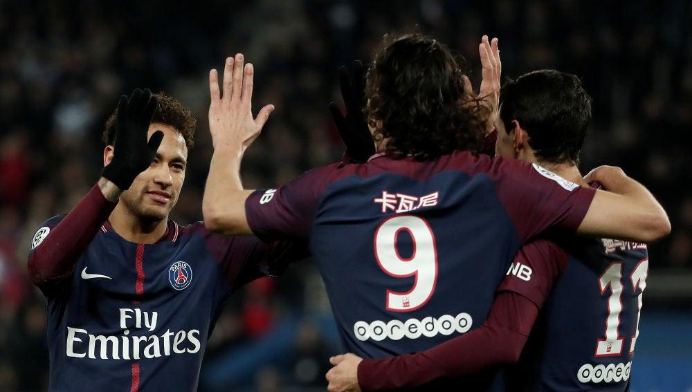 El PSG goleó al Estrasburgo