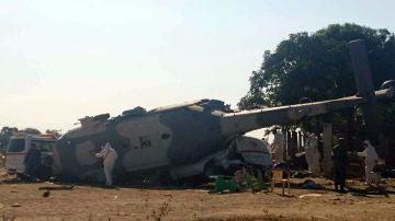 Accidente de helicóptero en México