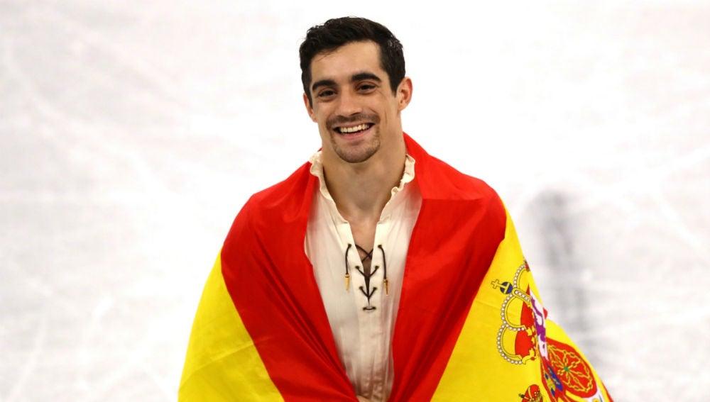 Javier Fernández, sonriente