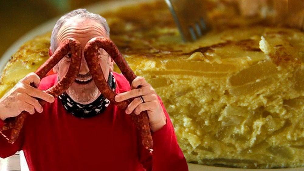 La original receta de tortilla de patatas con chorizo de Karlos Arguiñano
