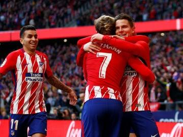 Griezmann se abraza a Gameiro