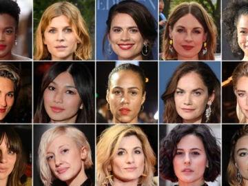 Algunas de las actrices firmantes de la carta contra el acoso