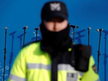 Imagen de un policía en Corea del Sur