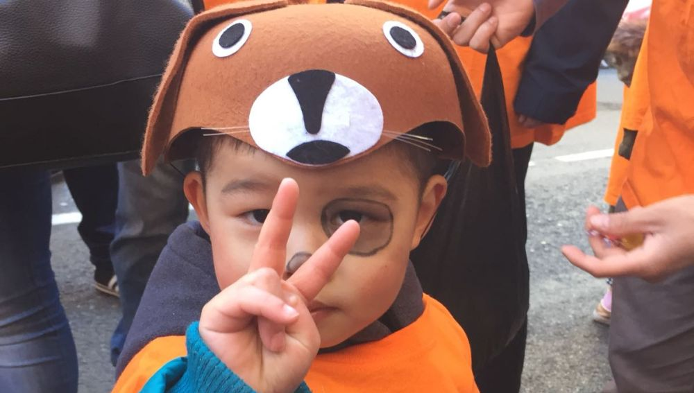 Uno de los asistentes a la celebración del Año Nuevo Chino en Usera