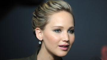 Jennifer Lawrence en la promoción de 'Gorrión Rojo'
