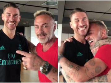 Sergio Ramos bromea con Gianluca Vacchi