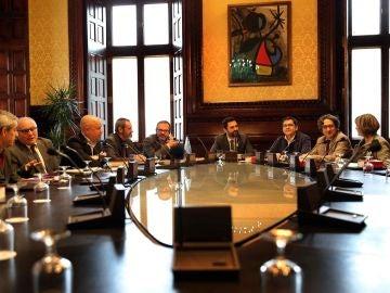 El presidente del Parlament, Roger Torrent, durante la reunión semanal de la Mesa