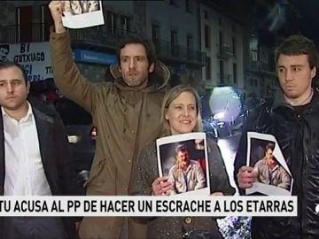 Sortu acusa al PP de escrache por protestar por el homenaje a unos etarras