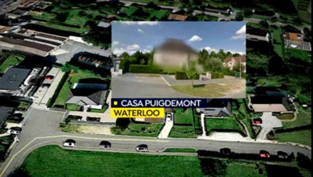 La casa de Puigdemont en Waterloo