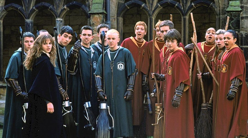 Los protagonistas de 'Harry Potter' aprendiendo Quidditch