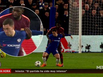 Las polémicas del Chelsea - Barcelona: ¿Hubo penalti de Rudiger a Piqué? ¿Y de Umtiti a Hazard?