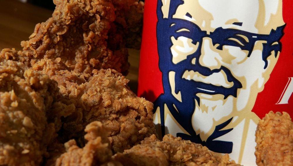 Un bol de pollo de KFC