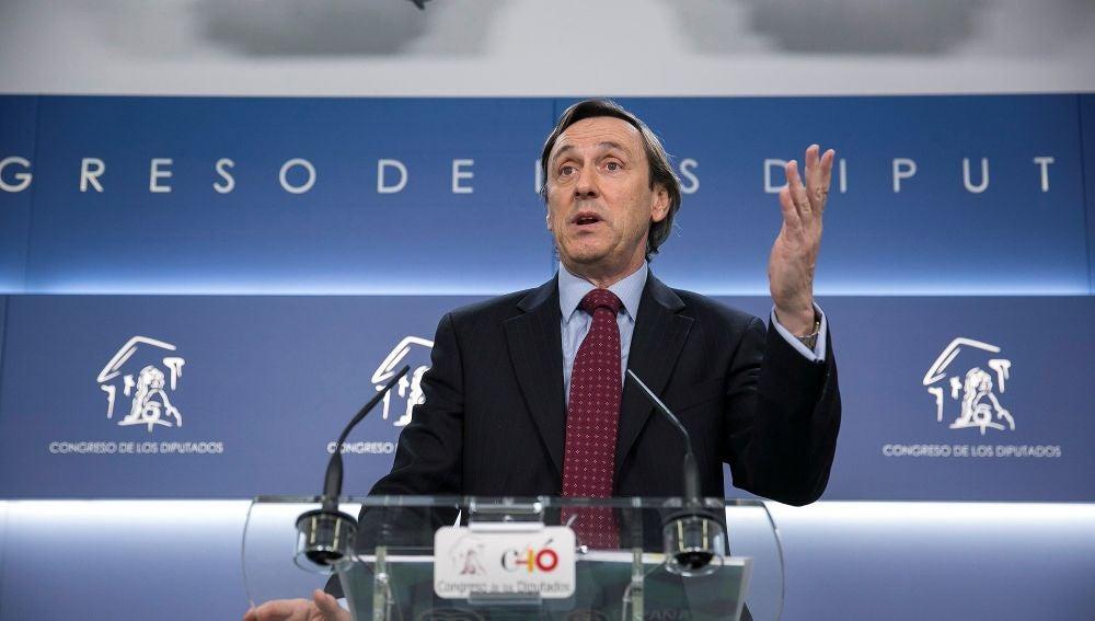 El portavoz del Partido Popular en el Congreso, Rafael Hernando
