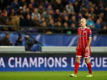 Arjen Robben, durante un partido de Champions