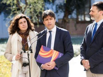 El presidente de SCC, José Rosiñol, y los vicepresidentes de la entidad, Óscar Uceda y Miriam Tey,