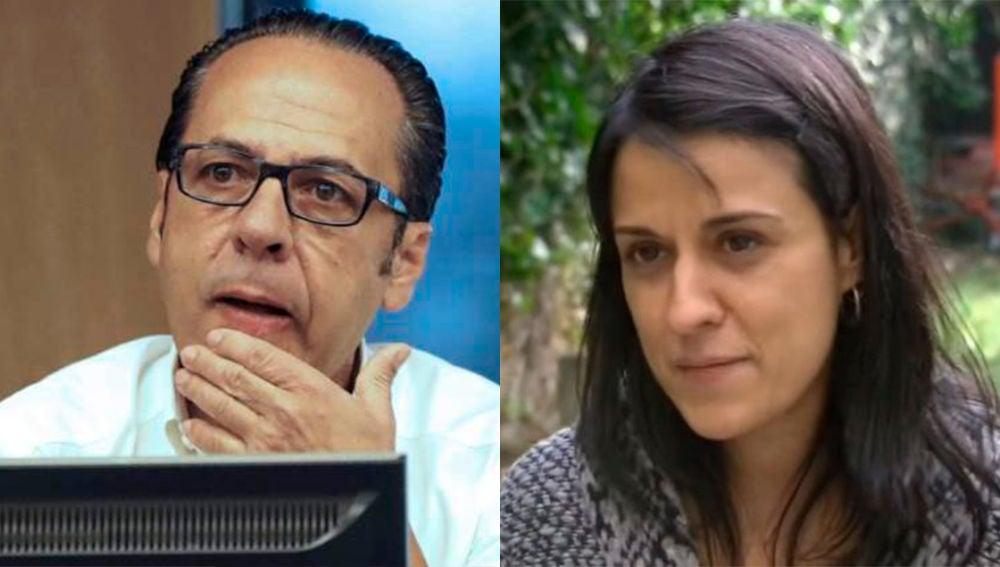 Álvaro Pérez, cabecilla de la 'trama Gürtel' y la dirigente de la  CUP Anna Gabriel.