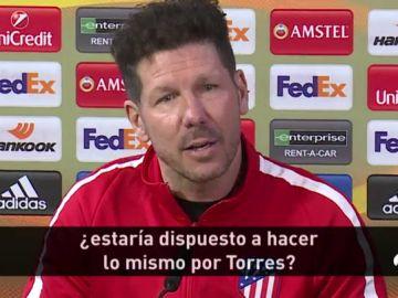 """El tajante """"no"""" de Simeone sobre el futuro de Fernando Torres en el Atlético de Madrid"""