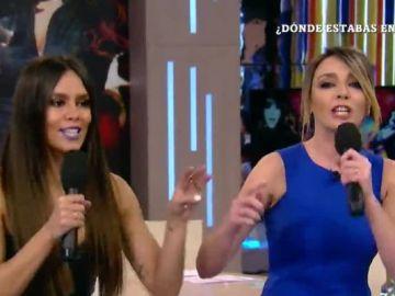 Anna Simon y Cristina Pedroche ensayan 'Lo malo'