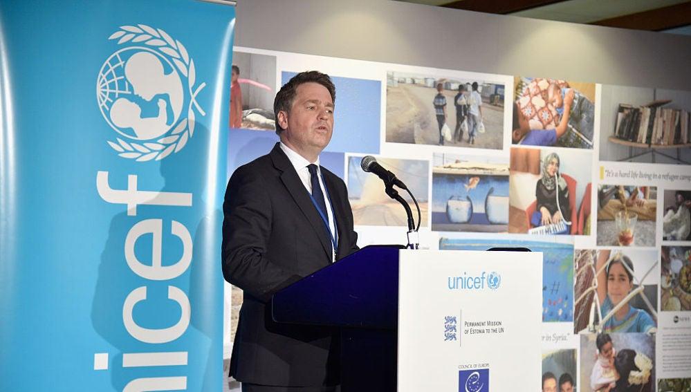 El director ejecutivo adjunto de Unicef, Justin Forsyth