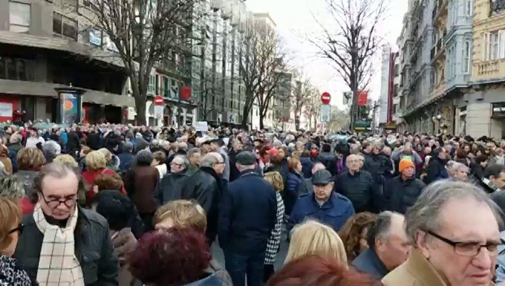 Concentración pensionistas Bilbao