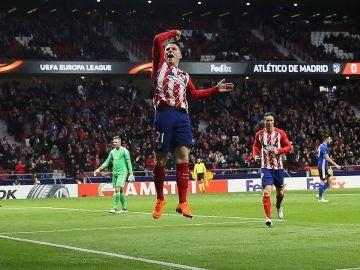 Gameiro celebra el 1-0 ante el Copenhague