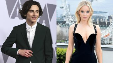 Timothée Chalamet y Jennifer Lawrence