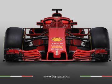 La vista frontal del nuevo Ferrari SF71H