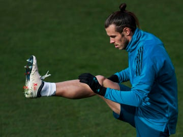 Gareth Bale, en un entrenamiento del Real Madrid