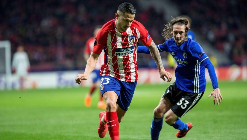 Vitolo, durante el partido contra el Copenhague